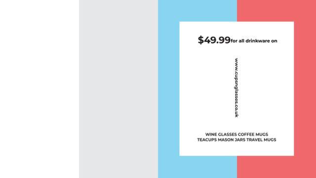 Plantilla de diseño de Shop Sale announcement on colorful Stripes Title