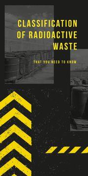 Barrels with Radioactive waste