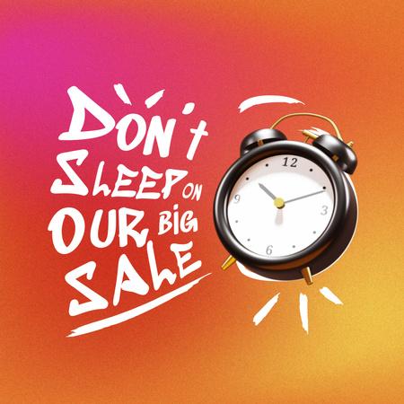 Sale Announcement with Alarm Clock Animated Post – шаблон для дизайна