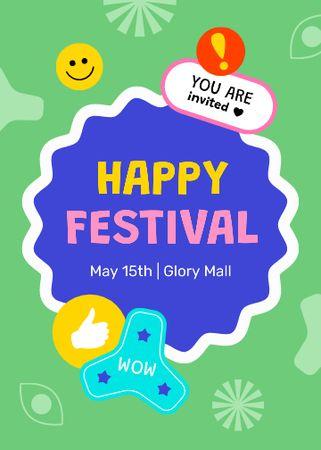 Bright Festival Event Announcement Invitation Modelo de Design