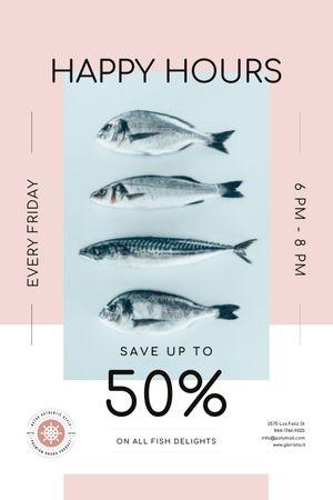Happy Hours Offer on Fresh Fish Tumblr tervezősablon