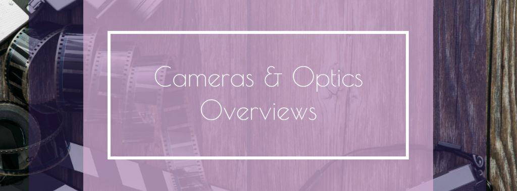 Vintage Film Cameras on Wooden Board — Crear un diseño