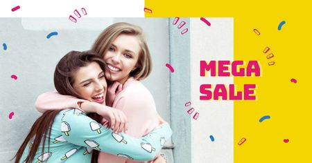Plantilla de diseño de Young girls hugging Facebook AD