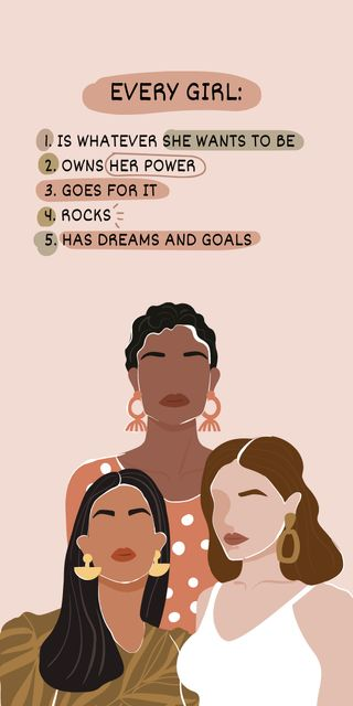 Girl Power Inspiration with Woman on Workplace Graphic – шаблон для дизайну