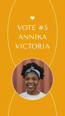 Modèle de visuel Election Candidate Announcement with Smiling Girl - Instagram Video Story