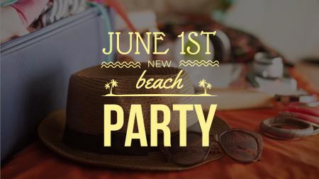 Packing Suitcase for Beach Party FB event cover – шаблон для дизайна