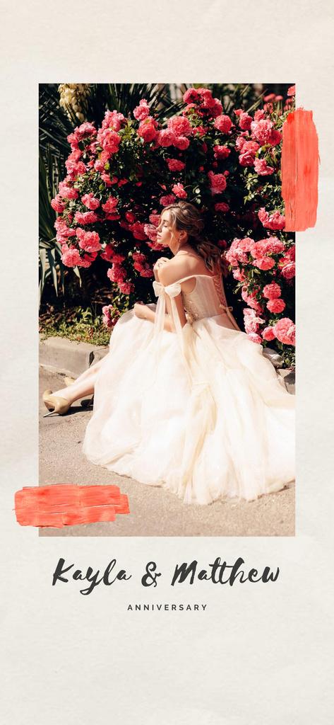 Wedding Anniversary with Woman in bridal dress Snapchat Moment Filter – шаблон для дизайна