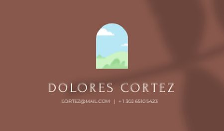 Plantilla de diseño de Professional contacts on Floral Shadow Business card