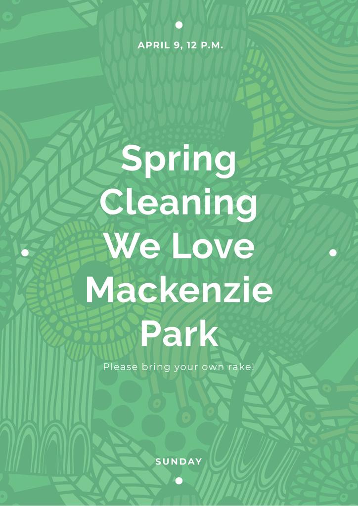 Spring cleaning in Mackenzie park — Create a Design