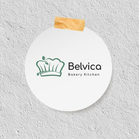 Ontwerpsjabloon van Logo van Bakery Ad with Chef's Cap