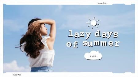 Ontwerpsjabloon van Youtube Thumbnail van Summer Inspiration with Beautiful Young Girl