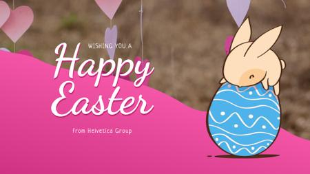 Template di design Easter Greeting Cute Bunny on Egg Full HD video