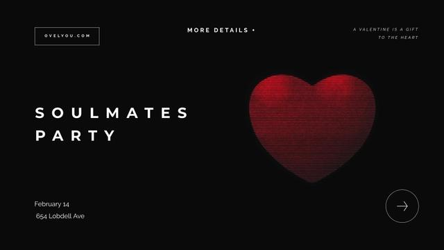 Template di design St.Valentines Day Invitation with Red Heart Full HD video