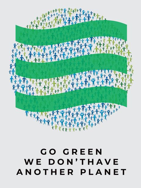 Ecology Concept with Earth symbol Poster US Modelo de Design
