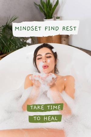 Modèle de visuel Mental Health Inspiration with Cozy Bath - Pinterest
