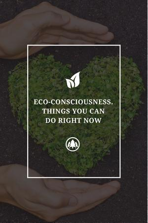 Template di design Eco-consciousness concept Pinterest