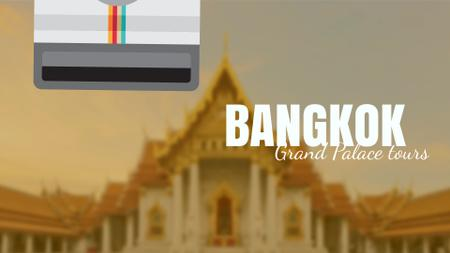 Designvorlage Visit Famous authentic Bangkok für Full HD video