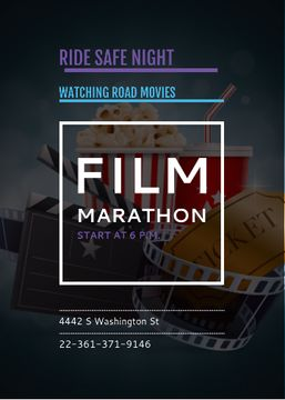 Film Marathon Night with popcorn
