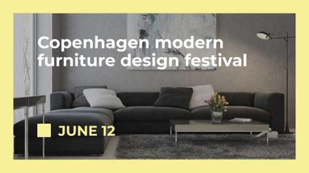 Plantilla de diseño de Modern furniture design festival FB event cover
