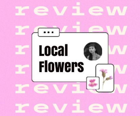 Flowers Store Customer's Review Large Rectangle Design Template