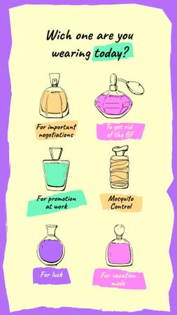 Designvorlage Humorous Perfume quiz für Instagram Story