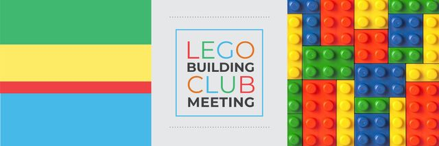 Template di design Lego Building Club Meeting Constructor Bricks Twitter