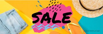 sale bright banner