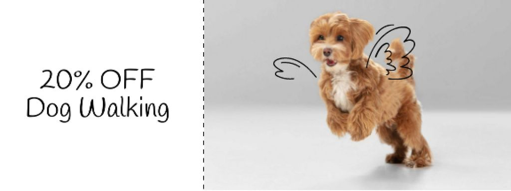 Flying Dog for Walking Services offer —デザインを作成する