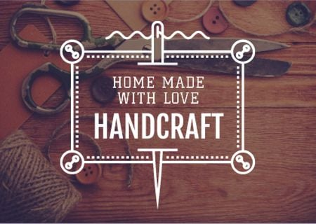 Template di design Handcrafted Goods Store Ad Postcard