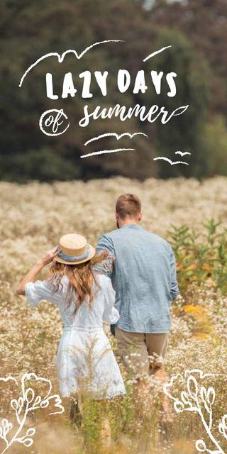 Modèle de visuel Summer Inspiration with Girl in Flower Field - Graphic
