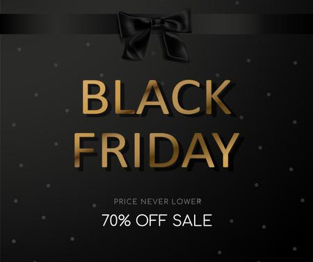 Black Friday sale with ribbon Facebookデザインテンプレート