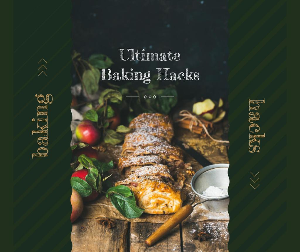 Christmas baked sweet stollen — Crear un diseño