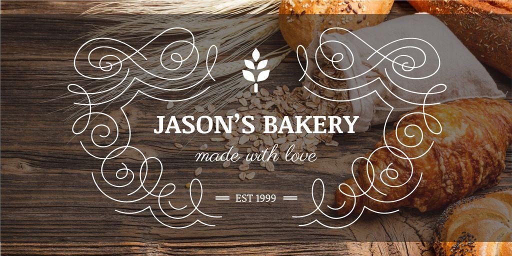 Ontwerpsjabloon van Image van Bakery Offer with Fresh Croissants on Table