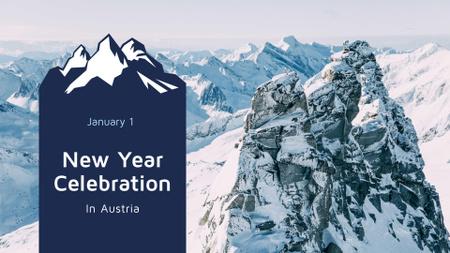 Modèle de visuel Winter Tour Snowy Mountains View for New Year - FB event cover