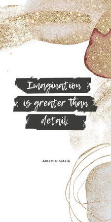 Imagination Quote on Glitter Graphic – шаблон для дизайну