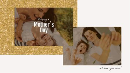 Mother's Day Smiling Mom and Daughter Full HD videoデザインテンプレート