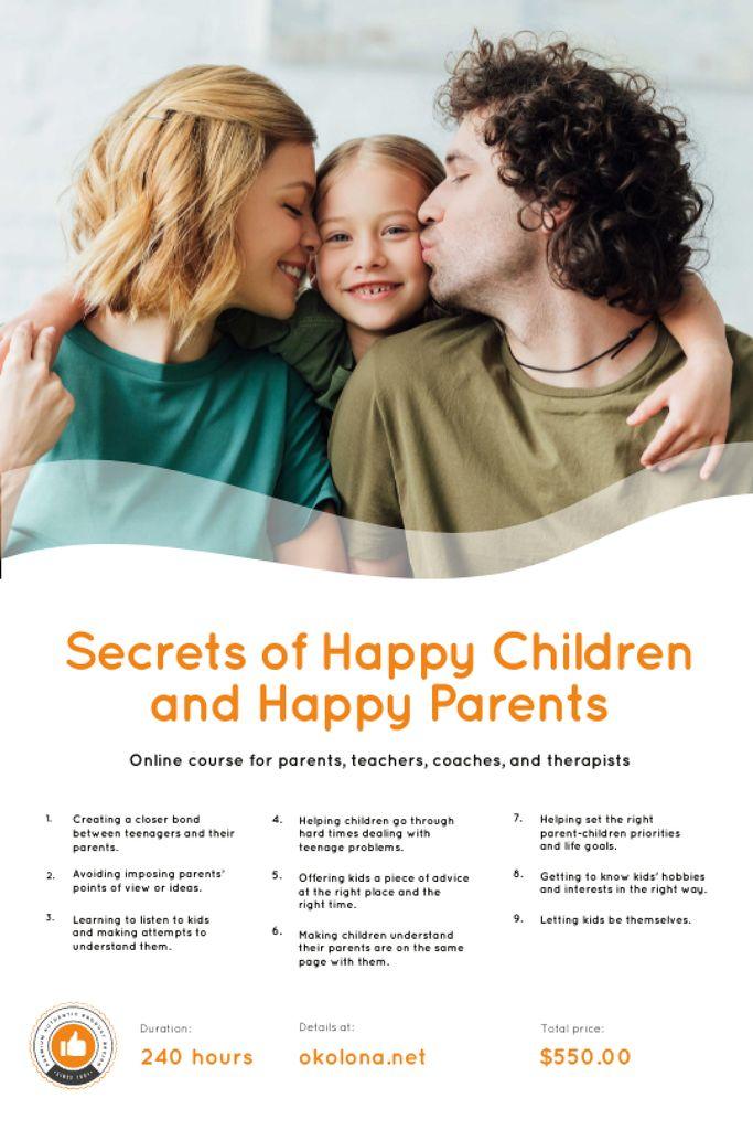 Platilla de diseño Parenthood Courses Ad with Parents and Daughter Tumblr