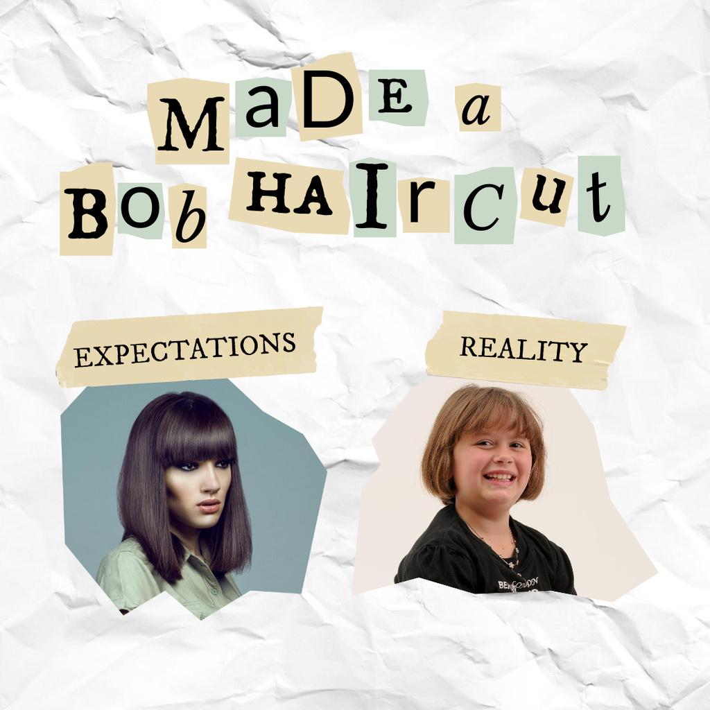 Funny Promotion of Hairdressing Services Instagram Tasarım Şablonu