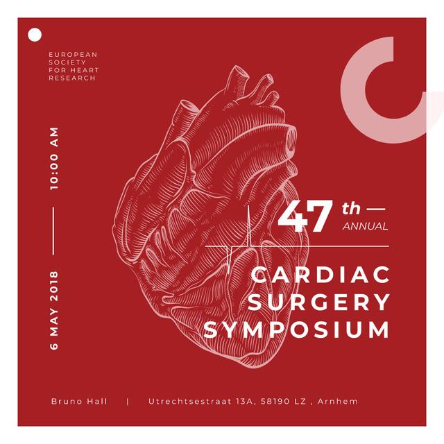 Human heart sketch Instagramデザインテンプレート