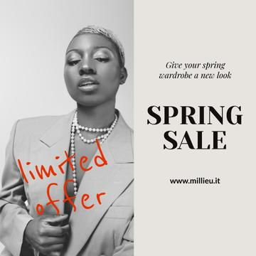 Stylish African American Woman in Blazer on Women's Day