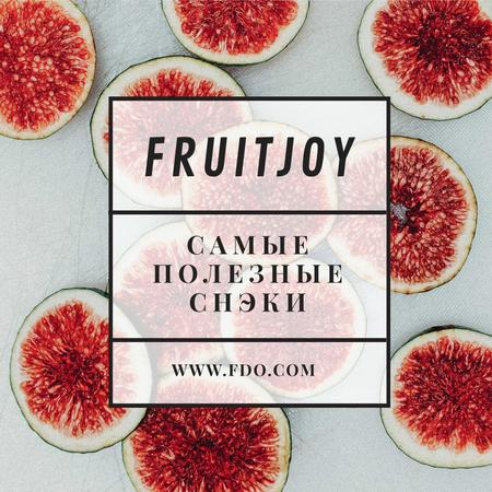Fruit dishes offer with fresh Figs Instagram AD – шаблон для дизайна