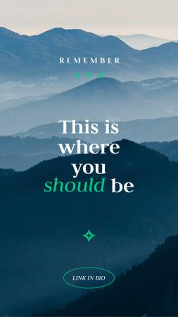 Travel Inspiration with Scenic Mountains Instagram Story – шаблон для дизайну