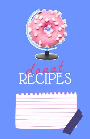 Tasty Donuts Cooking Steps Recipe Card – шаблон для дизайну