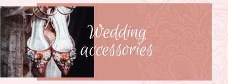 Wedding accessories Offer with Bridal Shoes Facebook coverデザインテンプレート