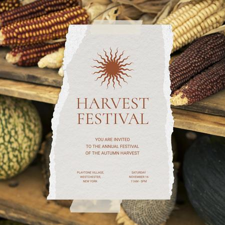Autumn Harvest Festival Announcement Instagram – шаблон для дизайну