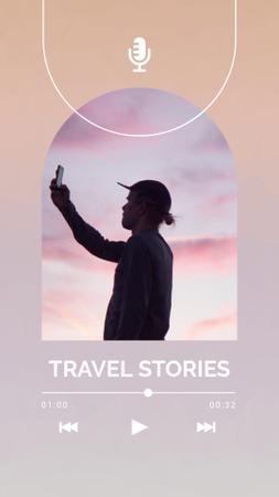 Podcast Topic Announcement about Travelling Instagram Video Story Design Template