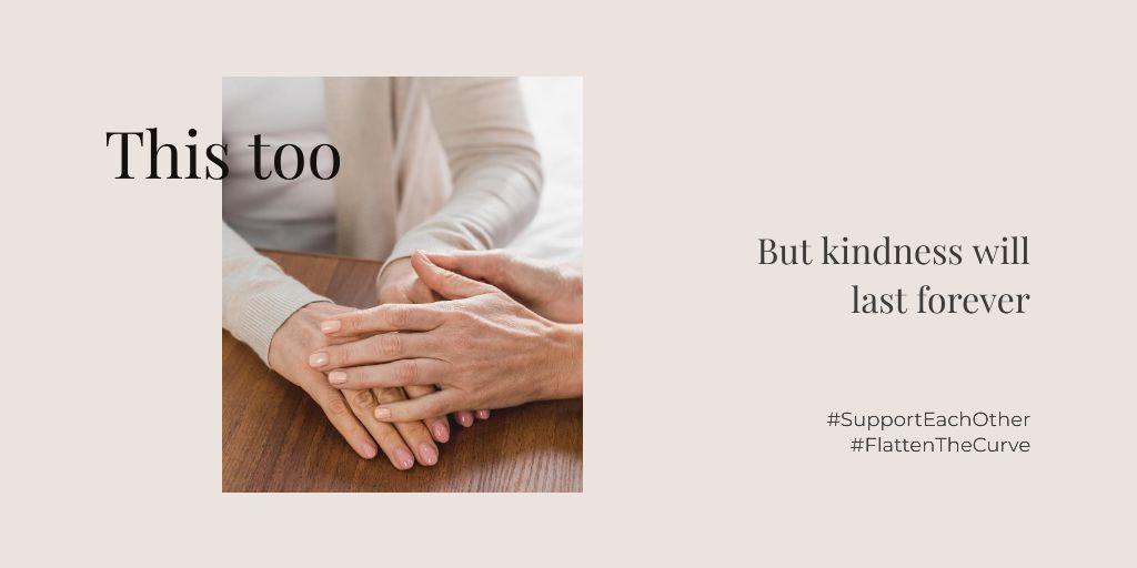 #SupportEachOther Citation about Kindness with old Women — Создать дизайн