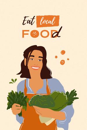 Platilla de diseño local food Pinterest