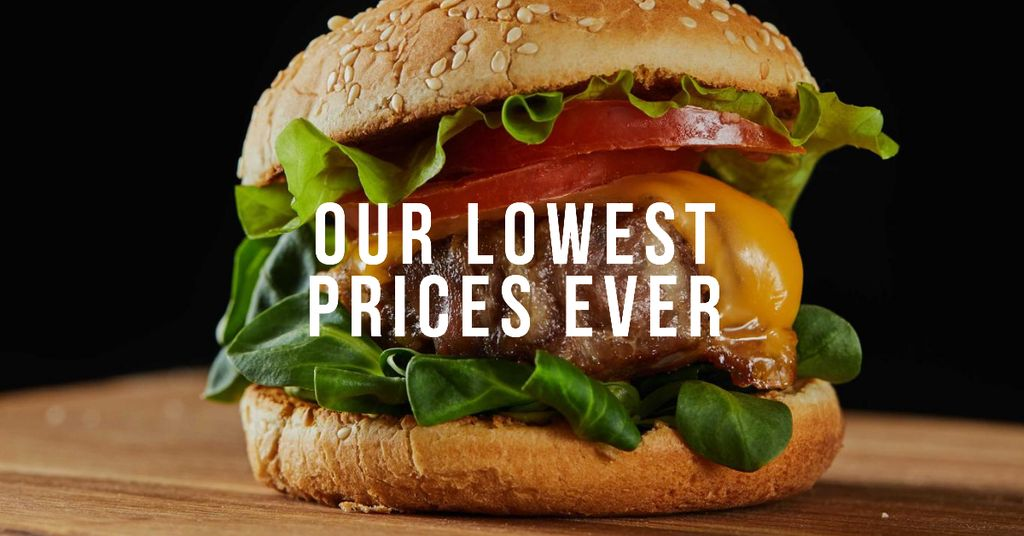 Tasty Burger for Sale Facebook AD – шаблон для дизайну