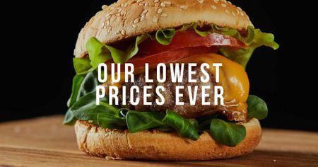 Modèle de visuel Tasty Burger for Sale - Facebook AD